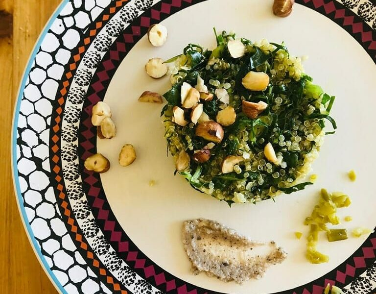 Quinoa & cavolo crudo