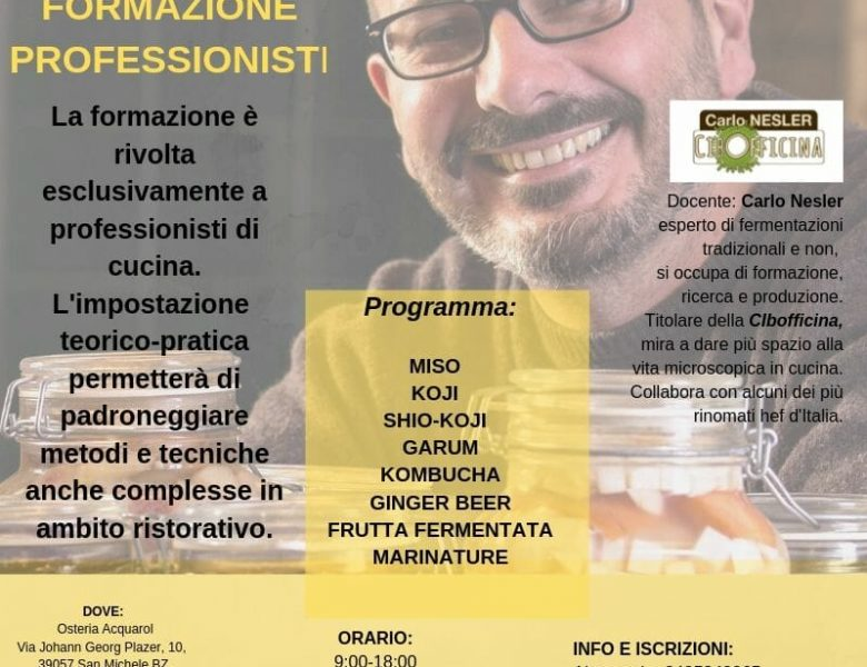8 e 9 ottobre Formazione professionisti Bolzano