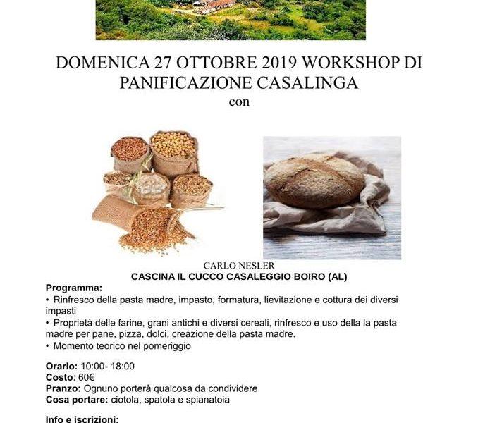 Domenica 27 ottobre – Panificazione Casalinga – Cascina Il Cucco a Casaleggio Boiro